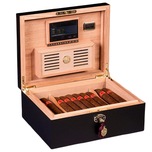 AMBIENTE BY DANIEL MARSHALL 65 HUMIDOR IN BLACK MATTE PRIVATE STOCK HUMIDOR
