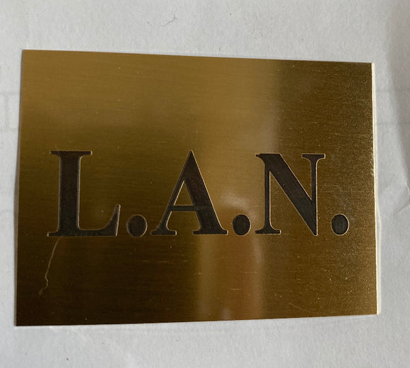 Custom Engraved Brass Plaque