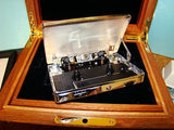 "Historic Rock memorabilia - Tiffany & Co "" Sterling Silver Walkman 10th Anniversary in Precious Wood fitted case "" by Daniel Marshall"