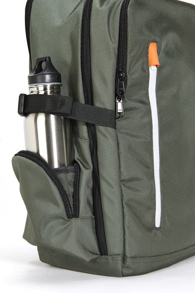 Just Porter's Professional Backpack Side Pocket for Accessories or Water Bottle