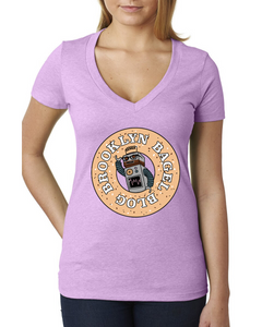 Brooklyn Bagel Blog Deep V T-Shirt