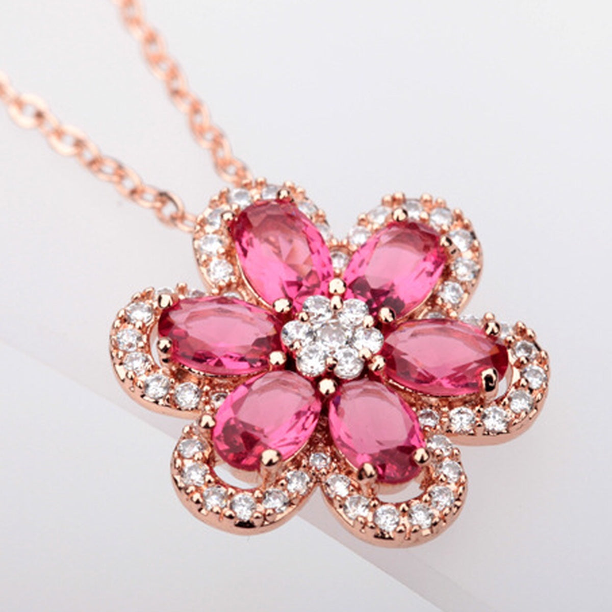 Ruby Blossom Necklace - GRACE BOUTIQUE UK women jewellery necklace earring bracelet ring broach scarf wrap shawl accessories