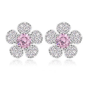 Cluster Floral Shaped Stud Earrings - GRACE BOUTIQUE UK women jewellery necklace earring bracelet ring broach scarf wrap shawl accessories