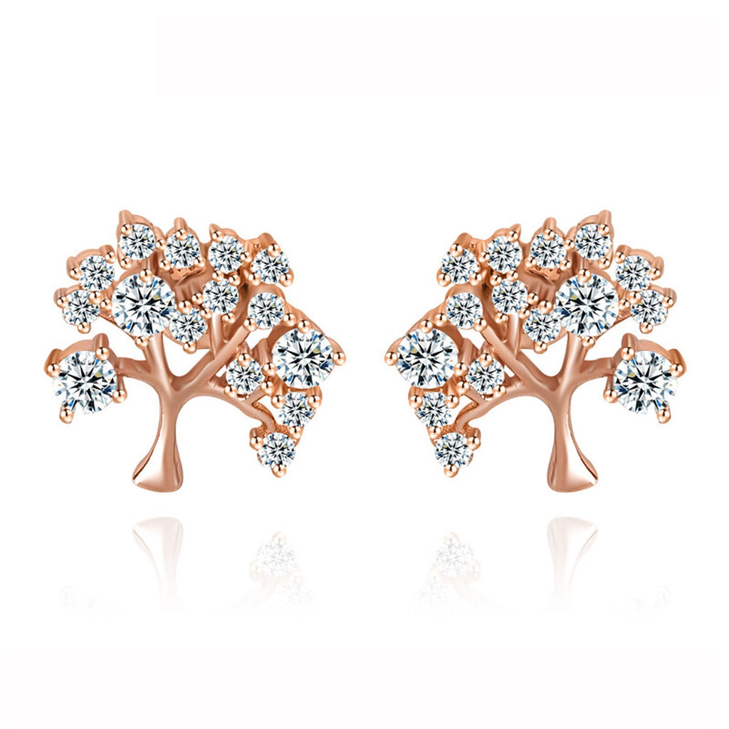 Family Tree Stud Earrings - GRACE BOUTIQUE UK women jewellery necklace earring bracelet ring broach scarf wrap shawl accessories