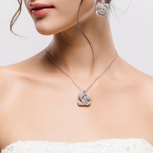 Cluster Rose Necklace - GRACE BOUTIQUE UK women jewellery necklace earring bracelet ring broach scarf wrap shawl accessories