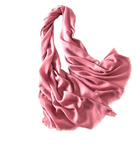 Women Extra Fine Wool Scarf (Rose Pink) - GRACE BOUTIQUE UK women jewellery necklace earring bracelet ring broach scarf wrap shawl accessories