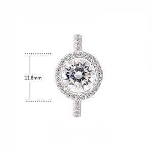 2ct tw Brilliant Round Cut Halo Ring - GRACE BOUTIQUE UK women jewellery necklace earring bracelet ring broach scarf wrap shawl accessories