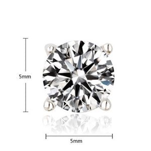 1ct tw Simulated Diamond Solitaire Stud Earrings - GRACE BOUTIQUE UK women jewellery necklace earring bracelet ring broach scarf wrap shawl accessories