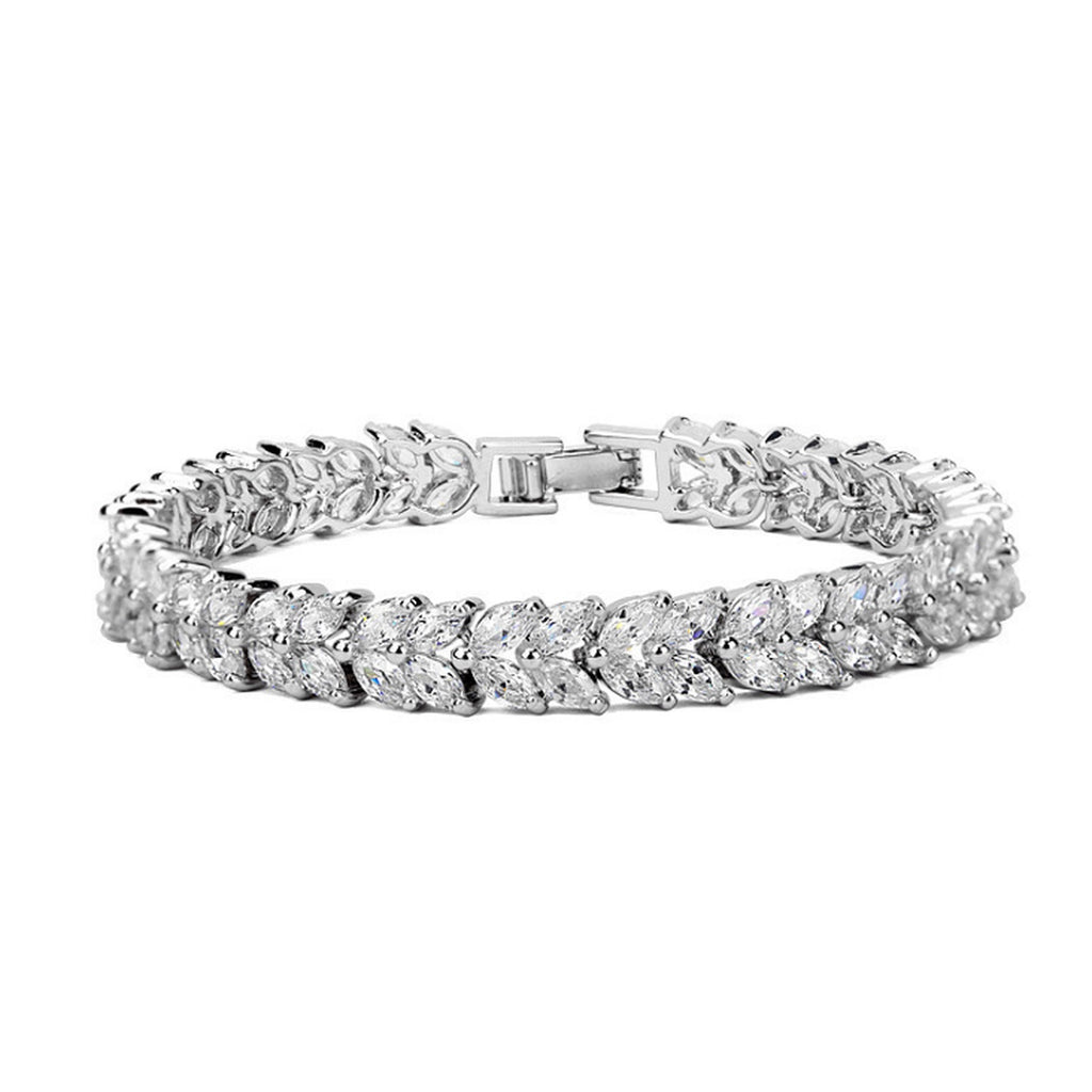 Marquise Cut AAA Zircon Tennis Bracelet - GRACE BOUTIQUE UK women jewellery necklace earring bracelet ring broach scarf wrap shawl accessories