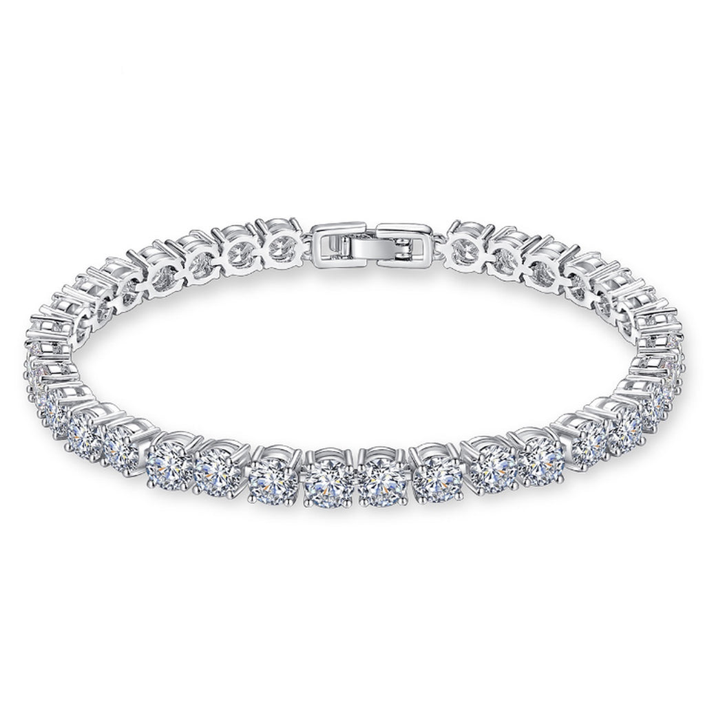 Brilliant Round Cut AAA Zircon Tennis Bracelet - GRACE BOUTIQUE UK women jewellery necklace earring bracelet ring broach scarf wrap shawl accessories