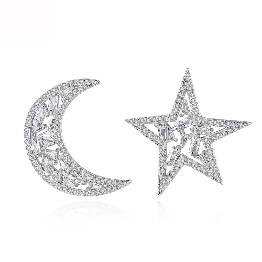 Moon Star Stud Earrings - GRACE BOUTIQUE UK women jewellery necklace earring bracelet ring broach scarf wrap shawl accessories