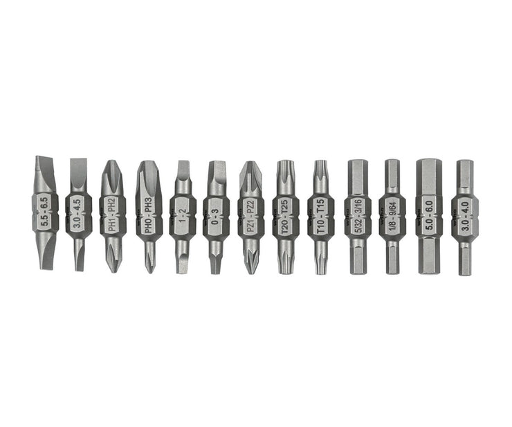 Wiha Tools 77780 13 Bit Pack Reload for Tradesman 26 In One Ultra Driver