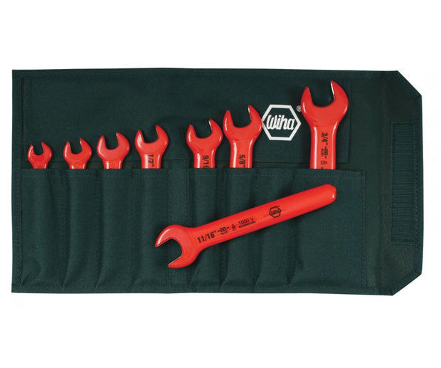 Wiha Tools 20192 Insulated Open End Inch Wrench Set, 8 Pc.
