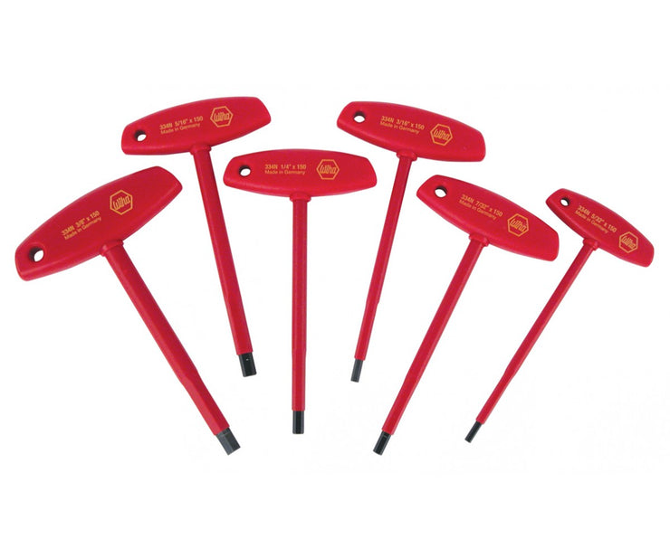 Wiha Tools 33490 Insulated T-Handle Hex Inch, 6 Pc. Set
