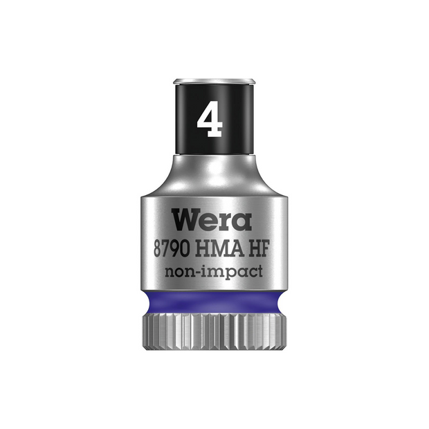 "Wera 05003717001 8790 HMA HF Zyklop socket with 1/4"" drive with holding function, 4 x 23 mm"