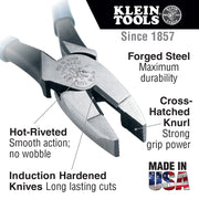 Klein Tools D20009NEGLW Side Cutter Linemans Pliers