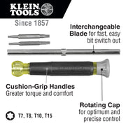 Klein Tools 32585 4-in-1 Electronics Screwdriver, TORX®