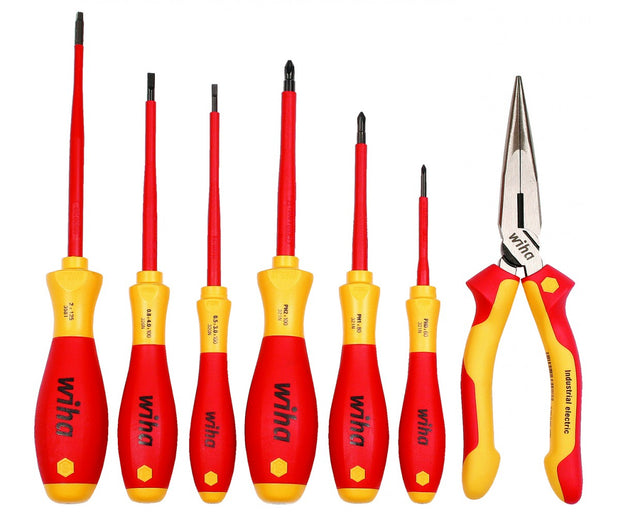 Wiha Tools 32086 Insulated Screwdrivers and Pliers Set 7-Piece