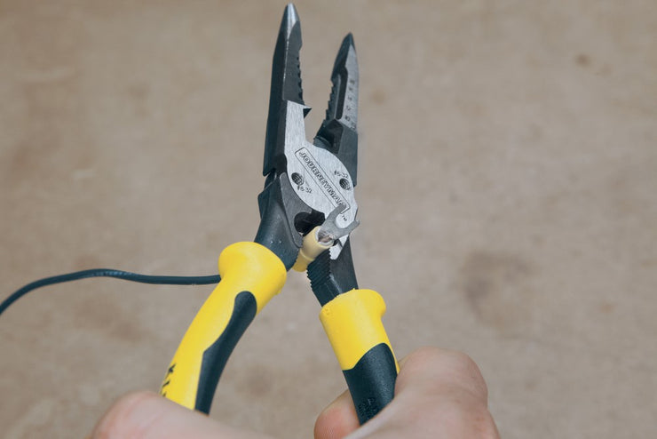 Klein Tools J207-8CR Needle Nose Pliers with Crimper