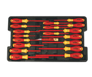 Wiha Tools 32095 Insulated Screwdrivers in Tray, 19 Pc. Set