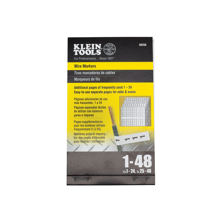Klein Tools 56250 Wire Marker Book, 1-48