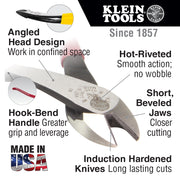 Klein Tools D248-9ST Diagonal Cutting Pliers for Rebar Work