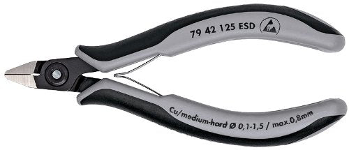 Knipex 79 42 125 ESD Precision Electronics Side Cutter