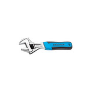 "Gedore 2668815 Adjustable Wrench, 6"" Width, Open End, Phosphated"