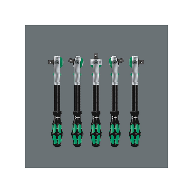 "Wera 05003647001 8100 SC 4 Zyklop Speed Ratchet Set, 1/2"" drive, imperial, 38 pieces"