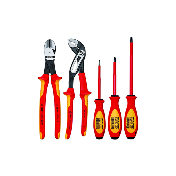 Knipex 9K 98 98 20 US 1000V Automotive Pliers and Screwdriver Tool Set, 5 Piece