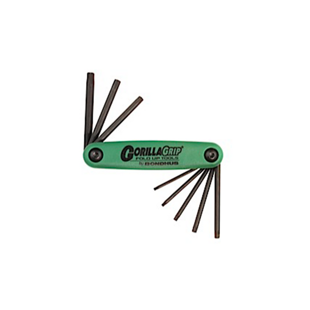 Bondhus 12634 Gorilla Grip Set of 8 T9 - T40 Torx Fold Up Tool