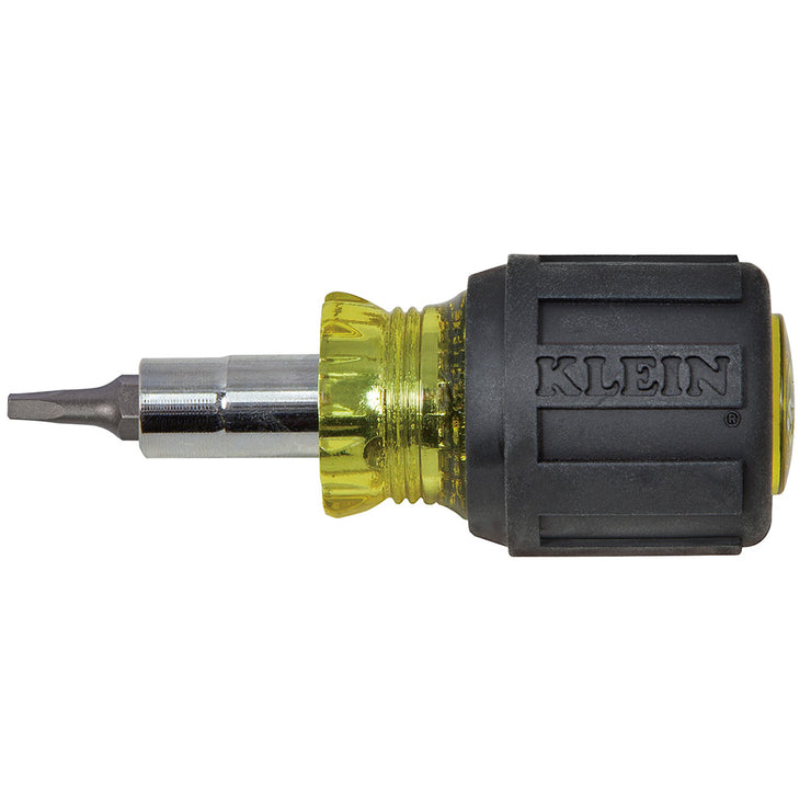 Klein Tools 32562 6-in-1 Multi-Bit Screwdriver / Nut Driver, Stubby