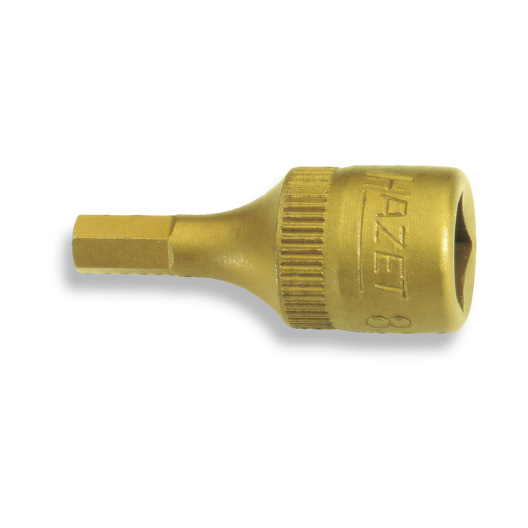 "Hazet 8501-4 4mm Hex Titanium-Nitride 1/4"" Socket"