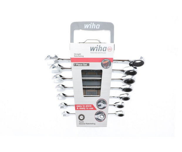 Wiha Tools 30390 Combination Metric Ratchet Wrenches 7 Piece Set