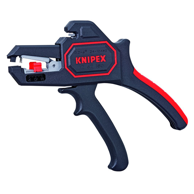 Knipex 12 62 180 Self Adjusting Insulation Strippers - Awg 10-24, 7.25 Inch