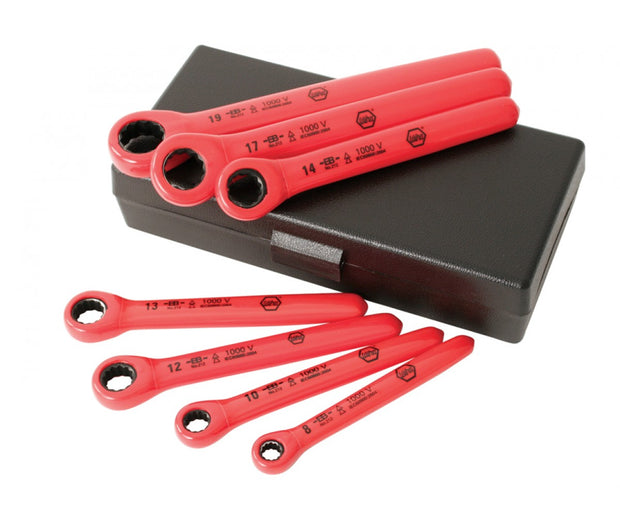 Wiha Tools 21290 7 PC Insulated Metric Ratchet Wrench Set