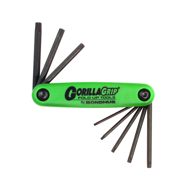 Bondhus 12632 Gorilla Grip Set of 8 T6 - T25 Torx Fold Up Tool
