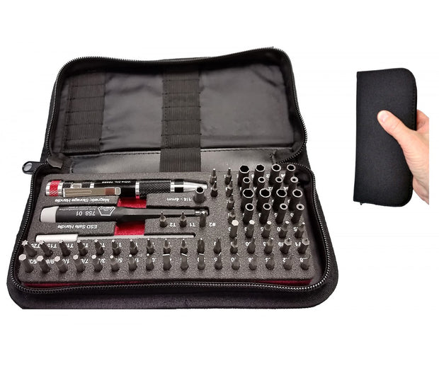 Wiha Tools 75971 Master Tech Micro Bit 68 Pc. Set In Travel Case