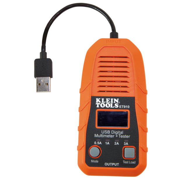 Klein Tools ET910 USB Digital Meter and Tester, USB-A (Type A)