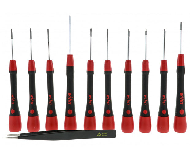 Wiha Tools 26198 PicoFinish Precision Screwdrivers Phone Repair Set, 11 Pc.