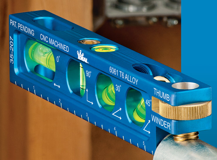 "Ideal 35-208 9"" Torpedo Level With 5 Vials"