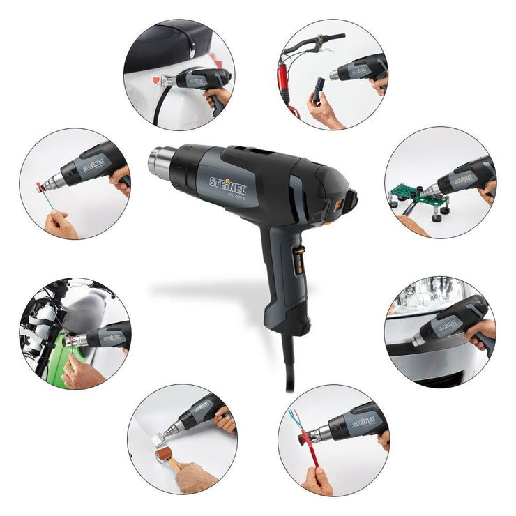 Steinel HL 1920 E Professional Heat Gun, 1500 W, Adjustable Temperature and Airflow, Hot Air Gun for Soldering, Heat Shrinking, Stripping Paint