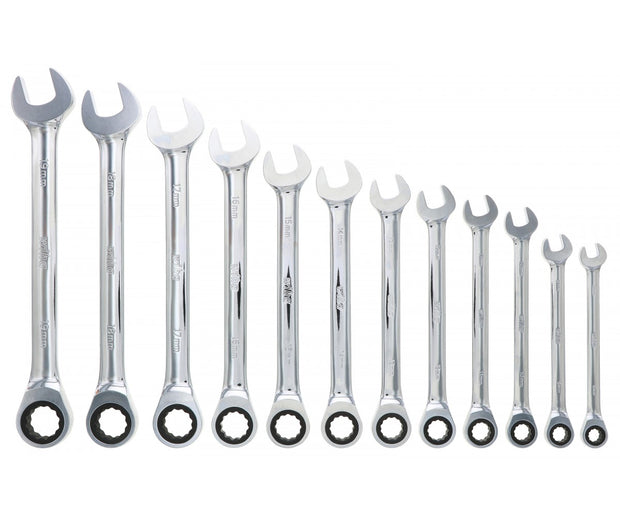 Wiha Tools 30391 Combination Metric Ratchet Wrenches, 12 Pc. Set
