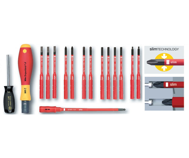 Wiha Tools 28792 Insulated TorqueControl with SlimLine Blades, 16 Pc. Set