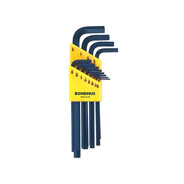 Bondhus 12136 Hex Long Arm L-Wrench Set, 12 Pc.