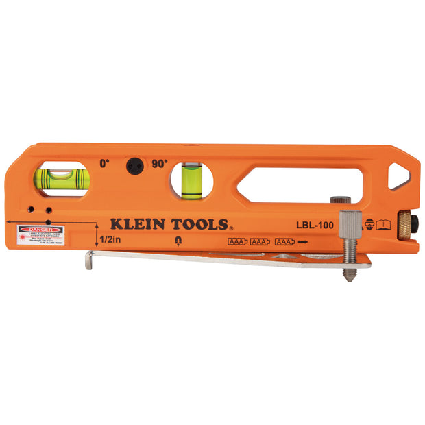 Klein Tools LBL100 Laser Level with Level Bubble Vials, Magnetic