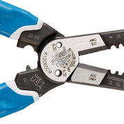 Klein Tools K12065CR Wire Cutter and Crimper Tool for Wire Cutting, Stripping, Crimping and Twisting  (8-18 AWG Solid)