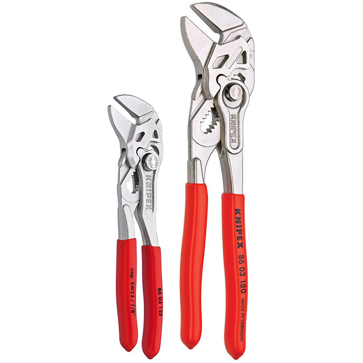 Knipex 9K 00 80 121 US Small Wrench Pliers, 2 Pc. Set