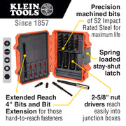 Klein Tools 32799 Pro Impact Power Bit Set, 26 Pieces