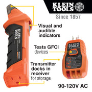 Klein Tools ET310 Digital Circuit Breaker Finder with GFCI Outlet Tester